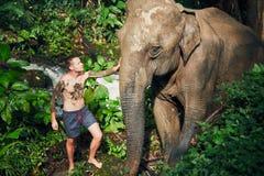 Handelsresande med elefanten arkivfoton