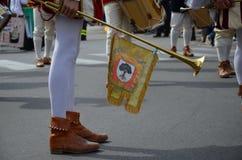 Handelsresande och trumpetare av Oristano Royaltyfria Foton