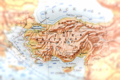 Handelsresande som fokuseras på Anatolien Arkivfoto