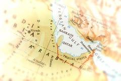 Handelsresande som fokuseras på Förenade Arabemiraten Arkivbilder