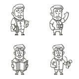 Handelsresandemantecken royaltyfri illustrationer