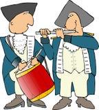 handelsresandepipblåsarerevolutionär som vi kriger royaltyfri illustrationer