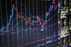 Handelsschirm Lizenzfreie Stockfotos