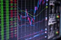 Handelsschirm Lizenzfreies Stockfoto