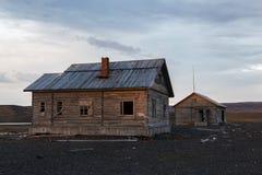 Handelsstation ein Litke auf Novaya Zemlya Stockbild