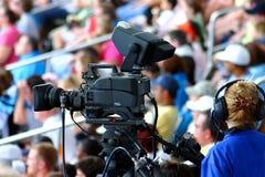 Handelsvideographer Stockbild