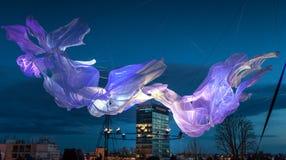 """16. Handelszentrum 2018 € Zagrebs, Kroatien """"Festival des Lichtes in Zagreb lizenzfreie stockbilder"""