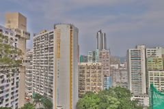 handelzaken, industriezone in Chai Wan royalty-vrije stock foto