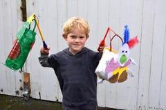 Handemade lanterns for Martinmas Royalty Free Stock Image