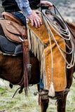 Handen av en cowboy royaltyfri bild