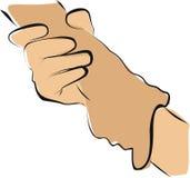Handen die aan hartvorm houden royalty-vrije illustratie