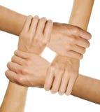 Handen die elkaar houden Stock Foto's