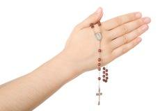 Handen die in gebed worden gesloten Royalty-vrije Stock Foto's