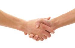 Handen die over witte achtergrond worden geïsoleerdt Royalty-vrije Stock Foto's