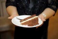 De Cake van de Chocolade van het huwelijk Stock Foto