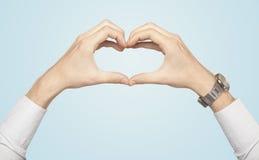 Handen die tot vorm leiden royalty-vrije stock foto