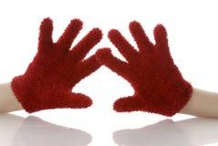 Handen die vuisthandschoenen dragen Royalty-vrije Stock Foto's