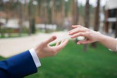 Handen die zich naar elkaar uitrekken Royalty-vrije Stock Foto