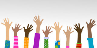 Handen diverse samenhorigheid Stock Foto's