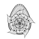 Handen drog konstnärliga påskägget stiliserade i zentanglestil Patt Royaltyfri Bild