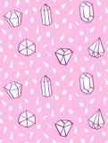 Handen drog sömlösa modellen för stil med diamanten formar Royaltyfri Bild