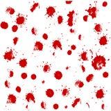 Handen drog uppsättningen med rött blod plaskar, fläckar Royaltyfri Fotografi