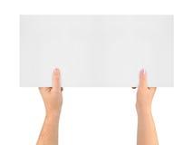 Handen en banner Royalty-vrije Stock Fotografie