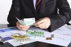 Handen en geld Royalty-vrije Stock Foto