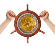 Handen en geldroer - financiënbeheer Stock Fotografie