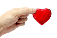 Handen en hart Stock Foto's