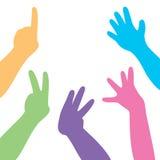 Handen en vingers Stock Foto