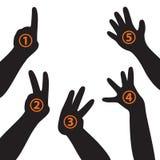 Handen en vingers Stock Afbeeldingen