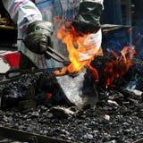 Handen en vlam Royalty-vrije Stock Afbeelding