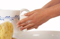 Handen en zeep Royalty-vrije Stock Afbeeldingen