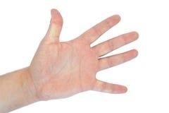 handen isolerade män öppnar s Arkivbilder
