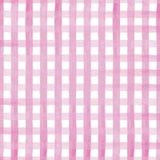 Handen målade den rosa vektorillustrationen för gingham på vit bakgrund stock illustrationer