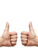 Handen met gebaar Nr 1 Stock Afbeelding