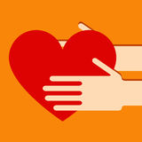 Handen met hart Stock Foto