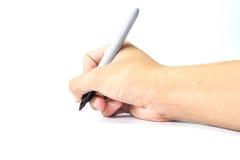 Handen met pen Royalty-vrije Stock Afbeeldingen