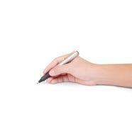 Handen met pen het schrijven royalty-vrije stock afbeelding