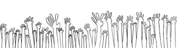 Handen met vragen Stock Fotografie