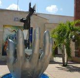 Handen och duvan Arkivfoto