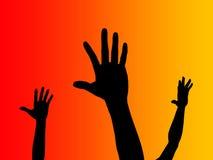 Handen omhoog Stock Foto
