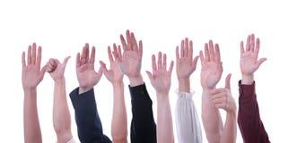 Handen omhoog Royalty-vrije Stock Afbeelding