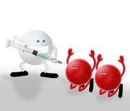 Handen omhoog! H1N1 royalty-vrije illustratie