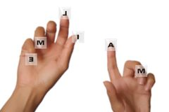 Handen op toetsenbord Royalty-vrije Stock Foto's