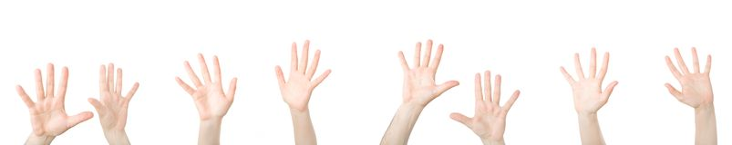 Handen open in gebed Royalty-vrije Stock Foto