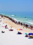 Handen over het Zand Stock Afbeelding