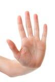 Handen räknar nummer 5 royaltyfria bilder