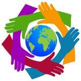 Handen rond de wereld Stock Fotografie